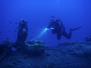 Diver at HMS Perseus