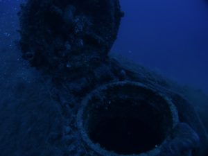 HMS Perseus escape hutch