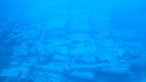 Ammunition and shells at Kapros German wreck
